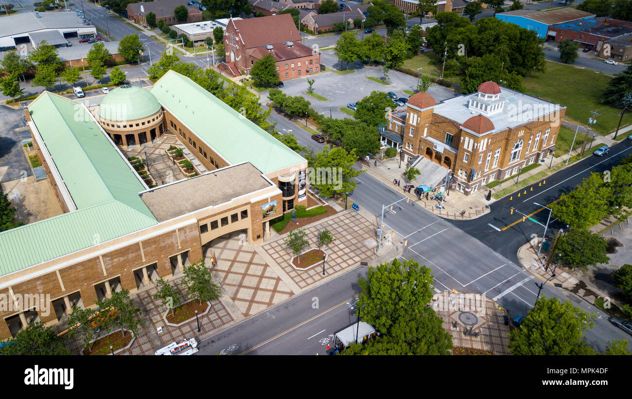 Birmingham Civil Rights Institute, and the Sixteenth Street Baptist Church, Birmingham, Alabama, USA - Stock Image