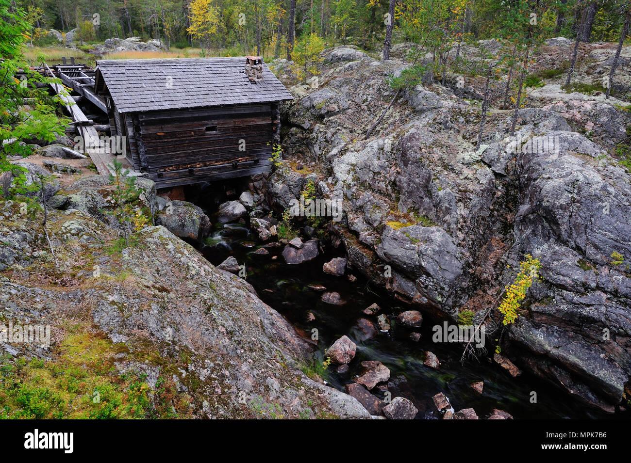 Water mill rabergs kvarn, dalarna, sweden - Stock Image