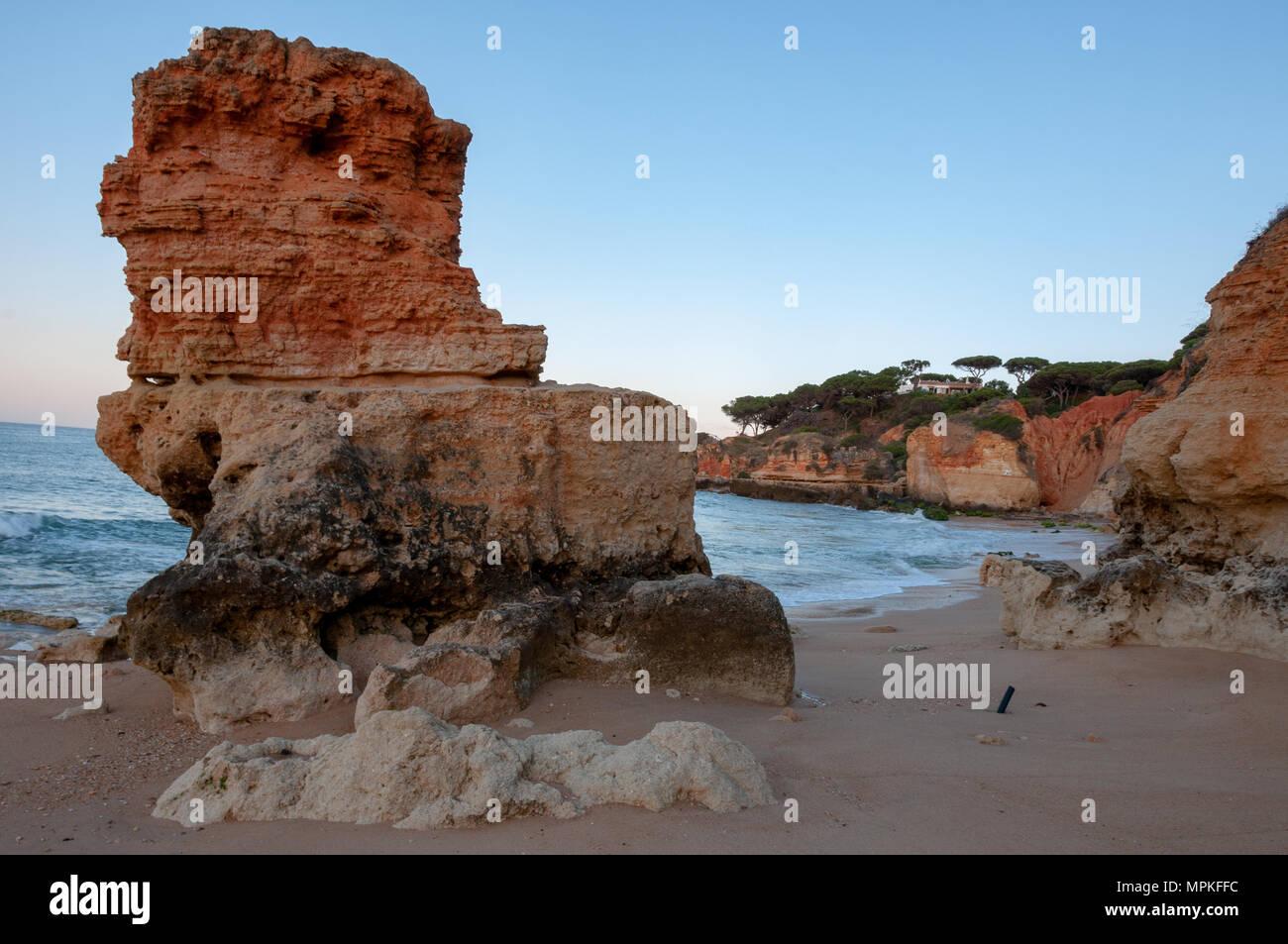 Olhos de Água Limestone Rocks - Stock Image