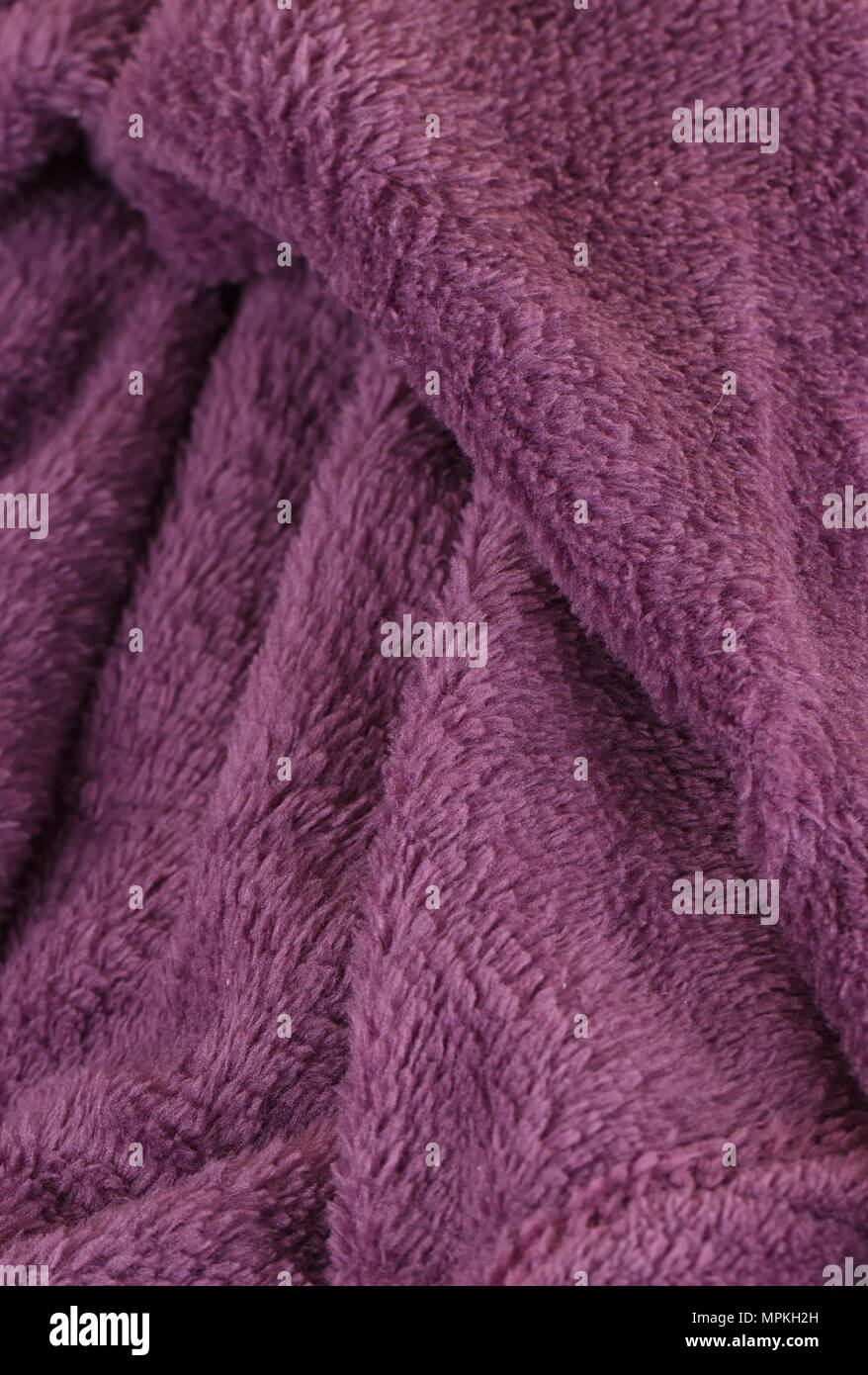 Dark Purple Bath Fluffy Towel Or Blanket Stock Photo Alamy