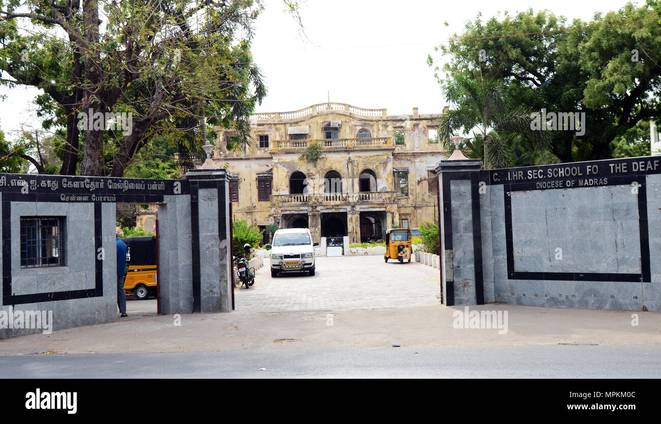 C.S.I. Higher Secondary School for the Deaf in Chennai. - Stock Image