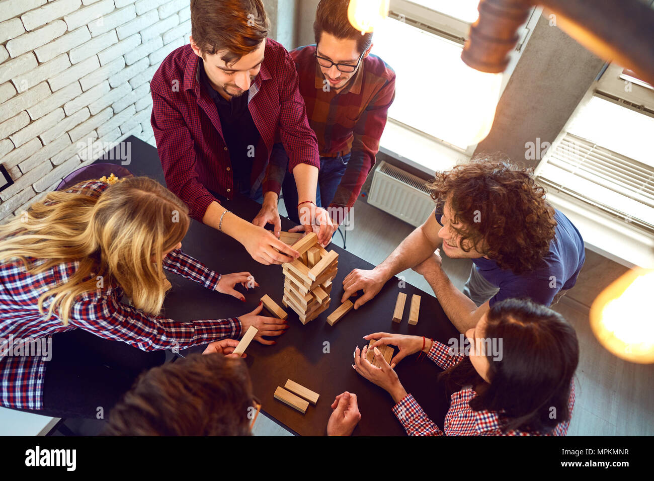 Friends Playing Board Game Stock Photos & Friends Playing Board Game