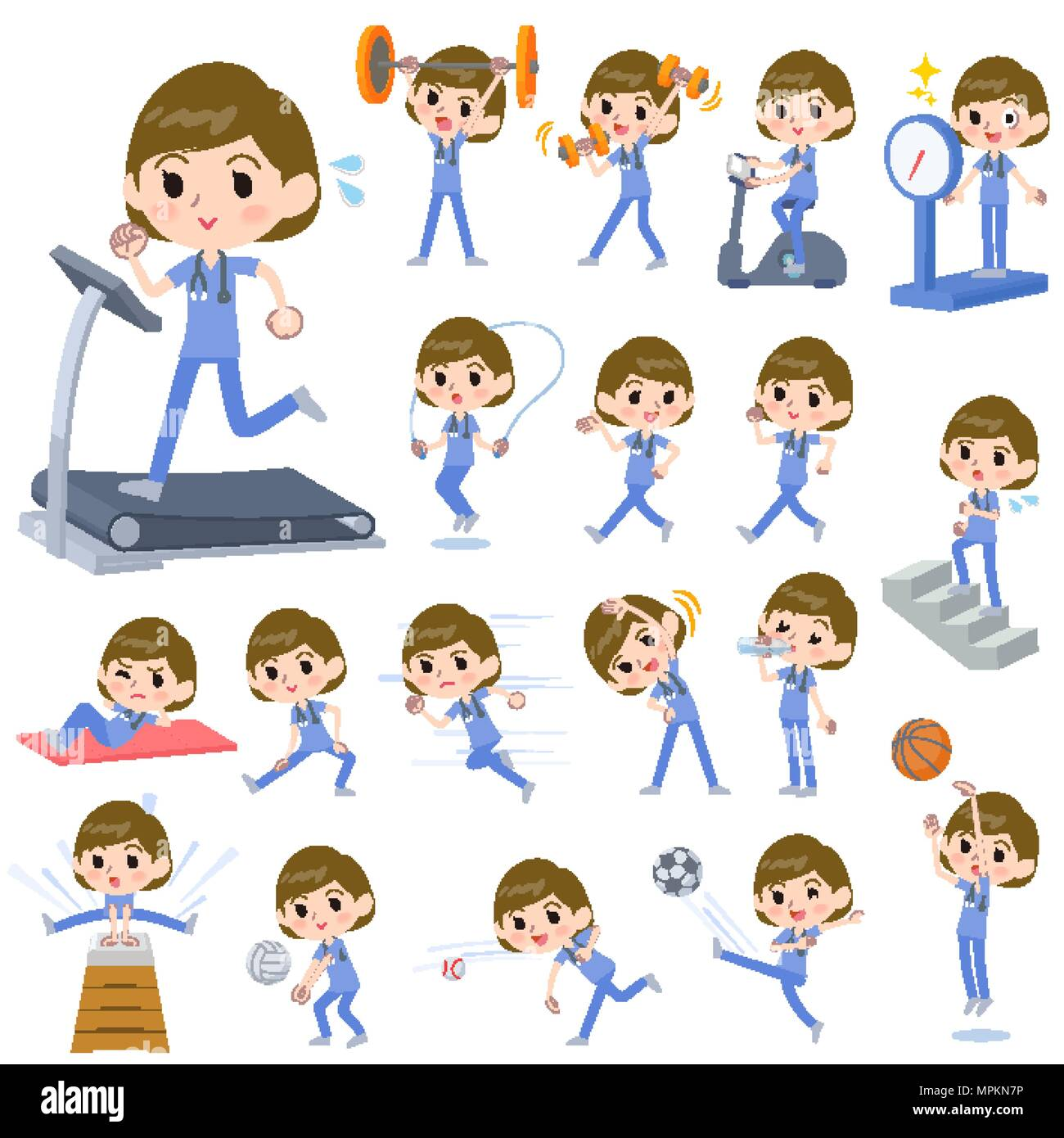 Surgical Training Stock Photos Images Alamy Clip Files Clipboards 1701 Set Of Various Poses Operation Blue Wear Women Sports Exercise Image