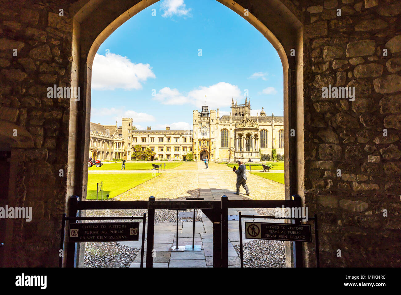 Cambridge trinity College UK, Trinity College is a constituent college of the University of Cambridge, trinity college Cambridge, trinity College uni - Stock Image