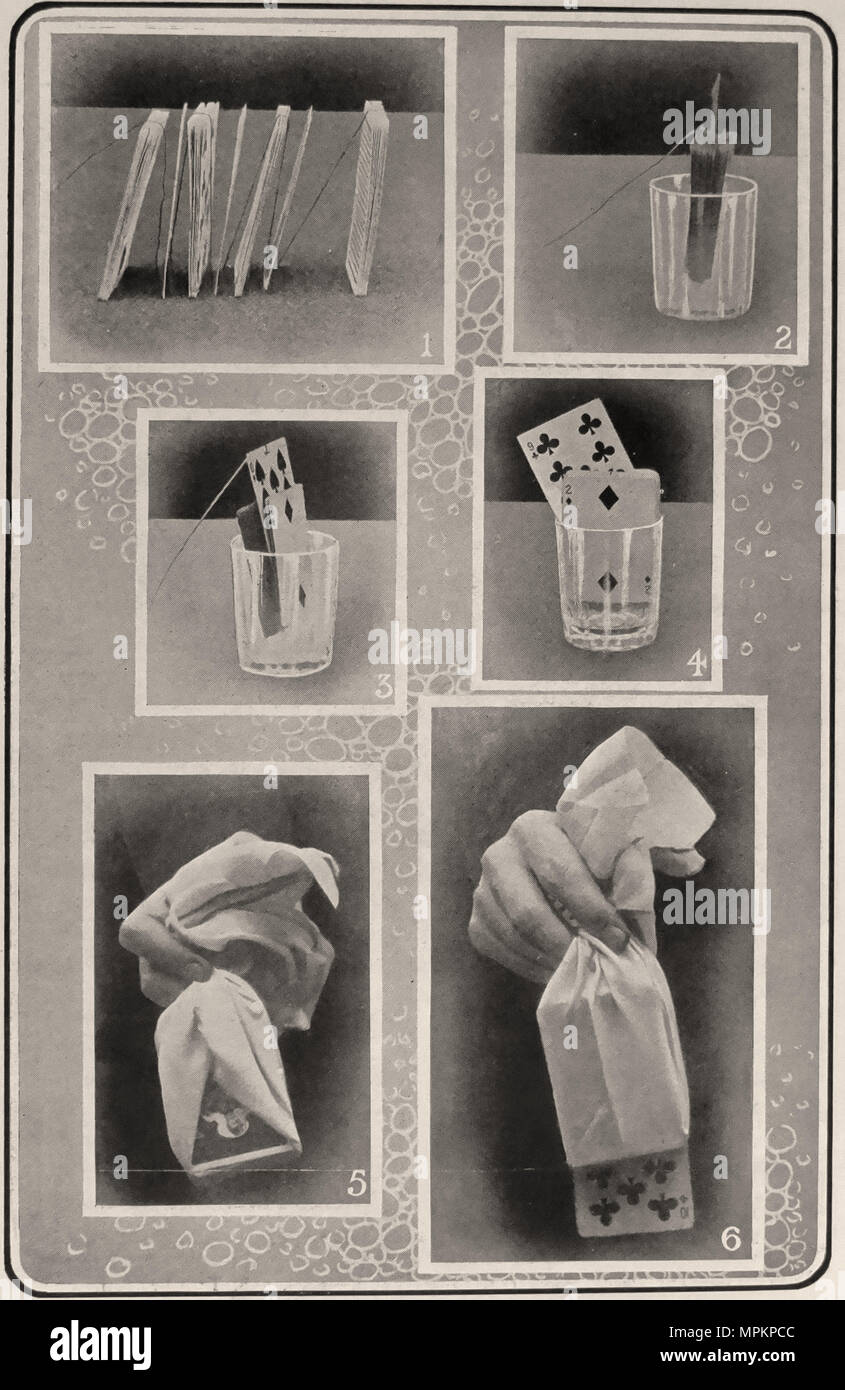 Photographic Plate V from 'The Art of Modern Conjuring and Drawing Room Entertainment.'  London: Ward Lock & Co., 1909. First edition. - Stock Image