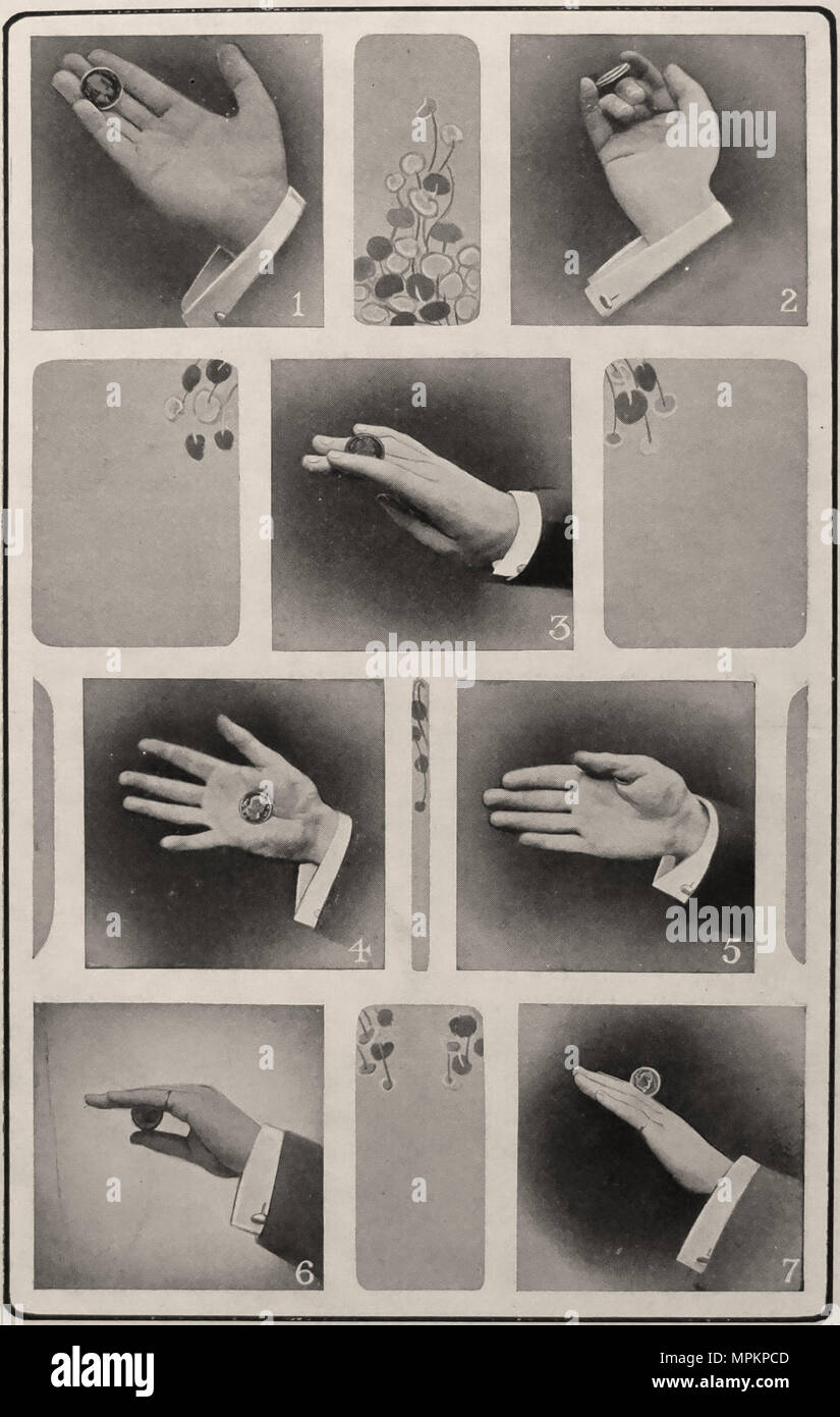 Photographic Plate VIII from 'The Art of Modern Conjuring and Drawing Room Entertainment.'  London: Ward Lock & Co., 1909. First edition. - Stock Image