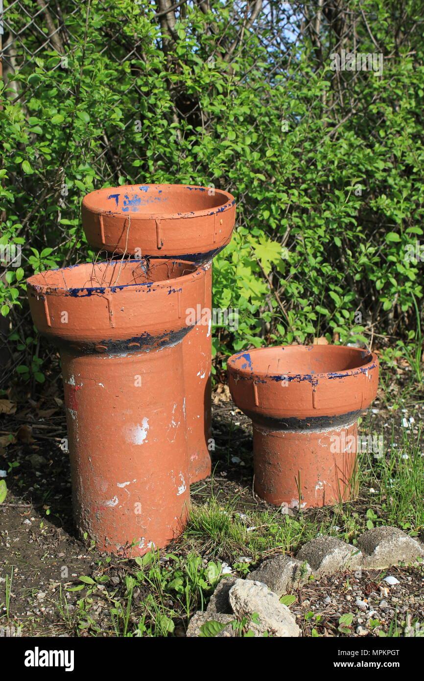 large terracotta flower pots stock photos large. Black Bedroom Furniture Sets. Home Design Ideas