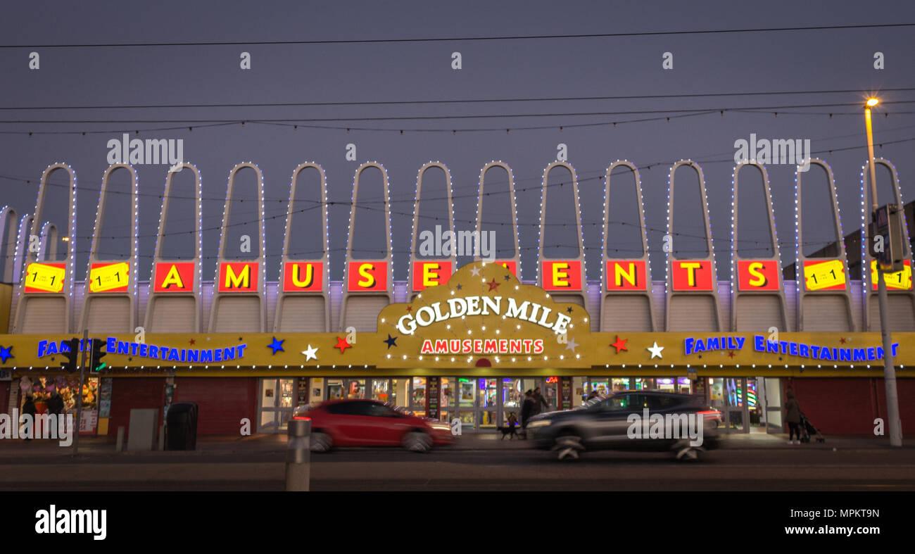 Golden Mile Amusements, Blackpool. - Stock Image