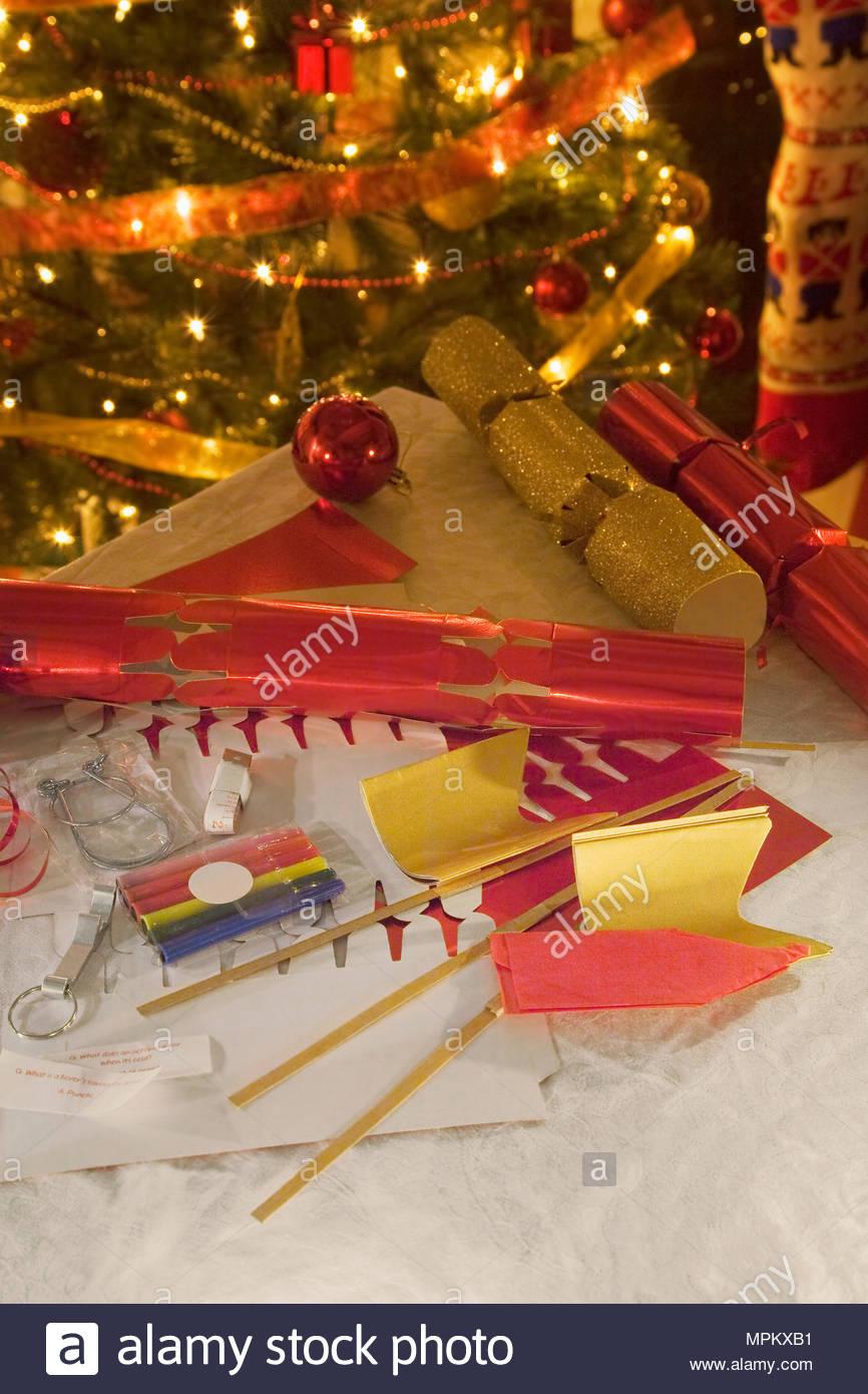 Christmas cracker hats stock photos christmas cracker hats stock christmas cracker making kit stock image solutioingenieria Images