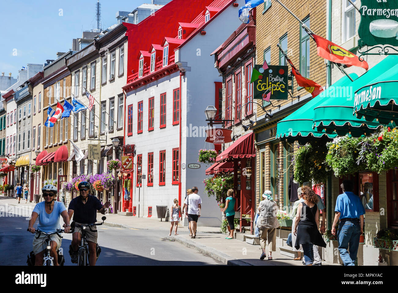 Quebec City Canada Upper Town Rue Saint Louis Historic