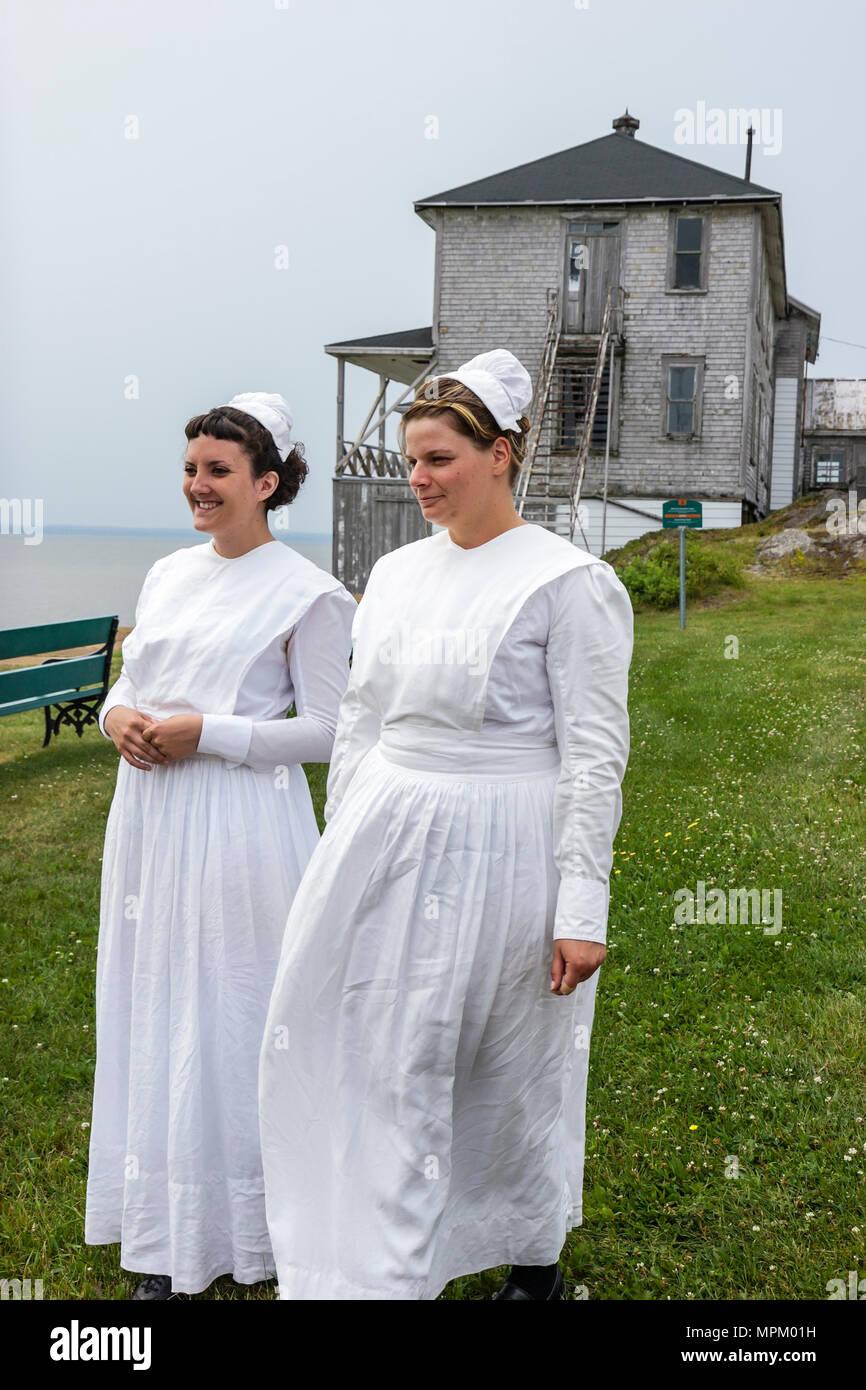 Canada Grosse Ile Irish Memorial National Historical Site immigration quarantine island 1832 1937 nurse guide - Stock Image
