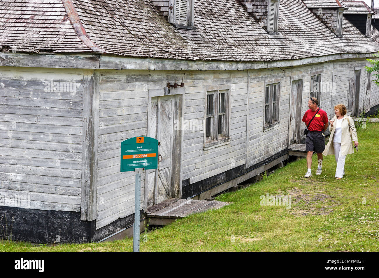 Canada Grosse Ile Irish Memorial National Historical Site immigration quarantine island 1832 1937 Wash House 1855 - Stock Image
