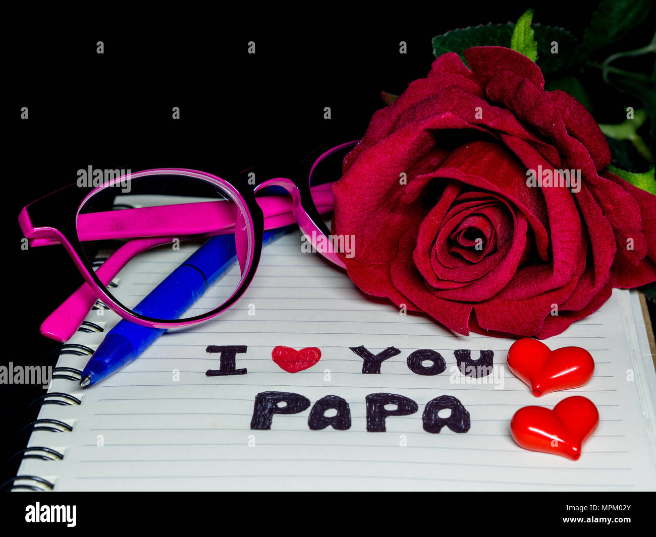 Happy Fathers Day Card Glasses Stock Photos & Happy ...