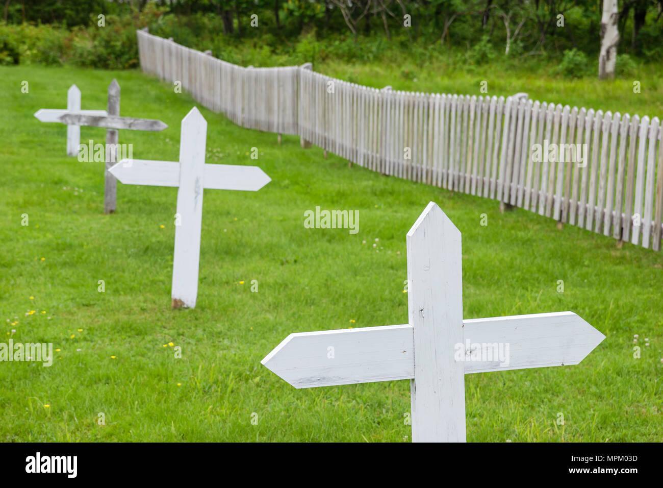 Canada Grosse Ile Irish Memorial National Historical Site immigration quarantine island 1832 1937 cemetery - Stock Image