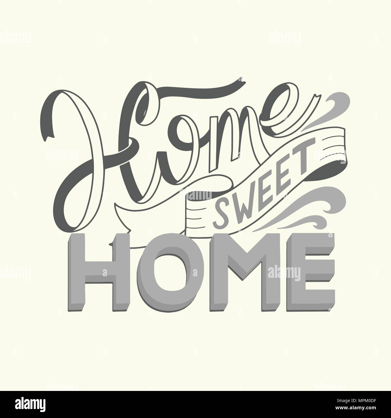 Home sweet home lettering. Vector elements for invitations, posters, greeting cards. T-shirt design - Stock Vector