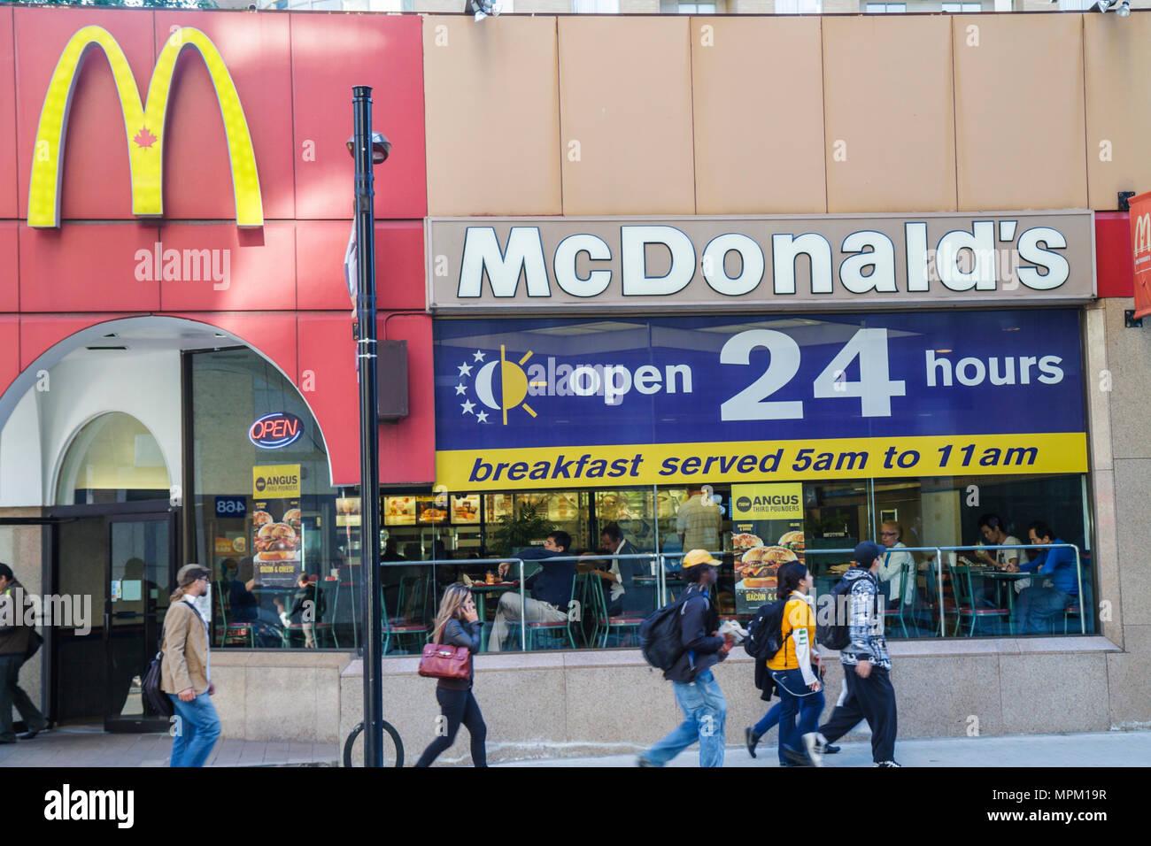 Toronto Canada Ontario Yonge Street McDonald's fast food restaurant