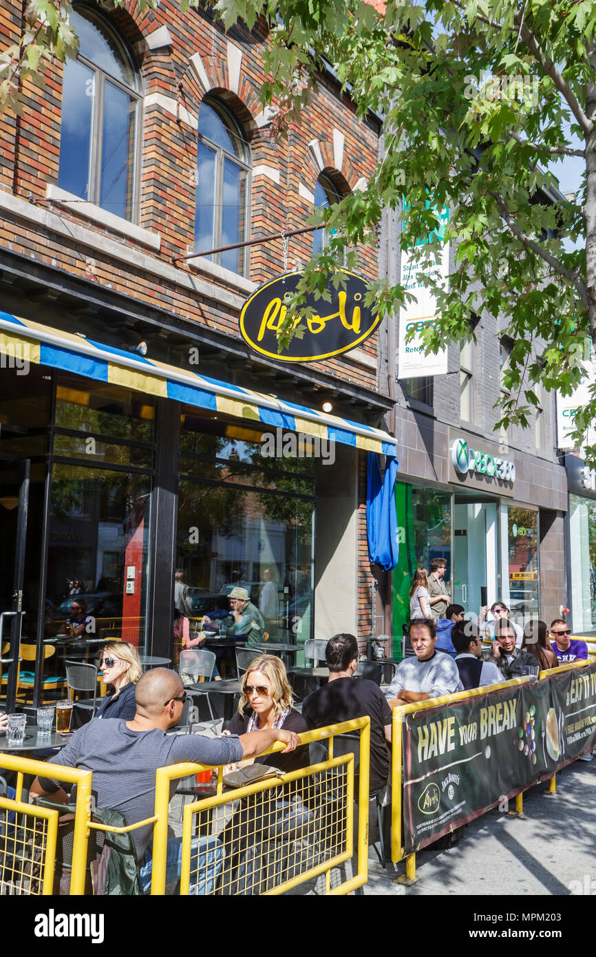 Toronto Canada Ontario Queen Street West trendy neighborhood Rivoli restaurant night club pool hall business landmark hot spot a - Stock Image