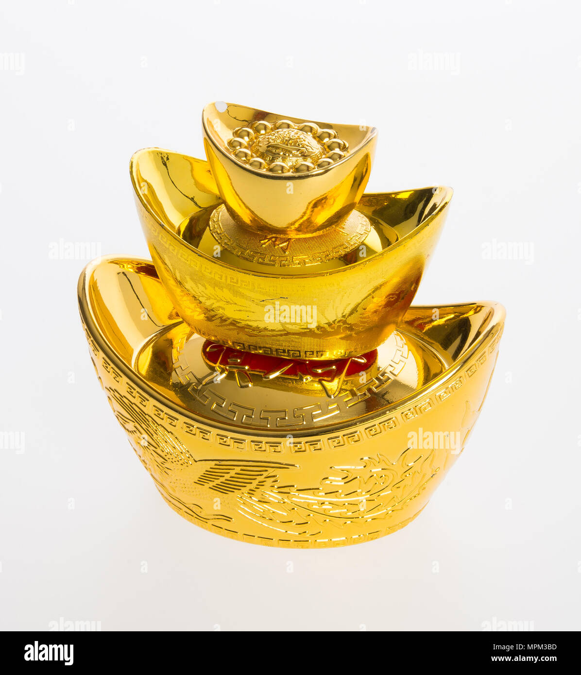Gold Or Chinese Gold Ingot Mean Symbols Of Wealth And Prosperity On