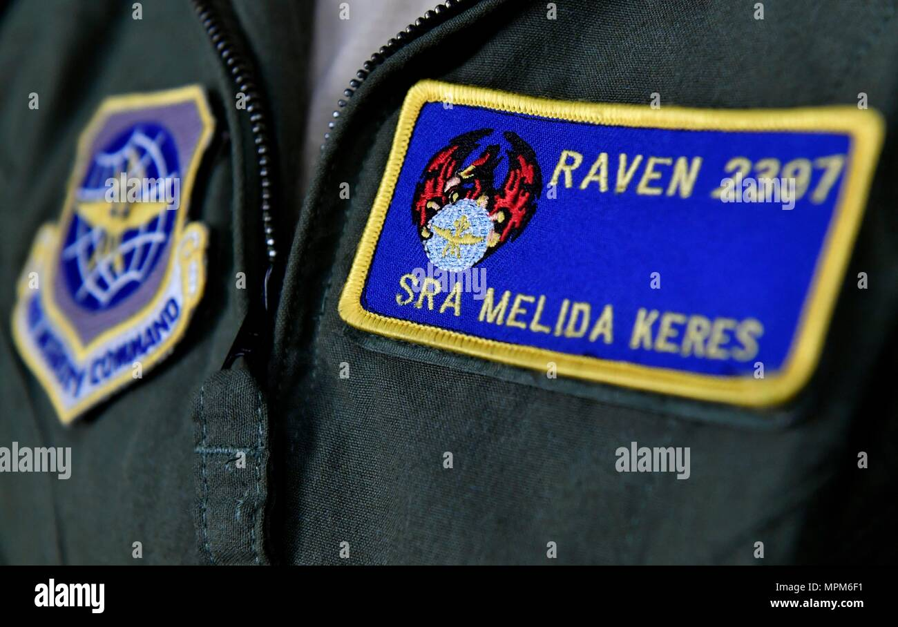 Senior Airman Melida Keres 628th Security Forces Squadron Phoenix Raven Wears Her Patch Here March 13 2017 With Five Out Of 32 Ravens