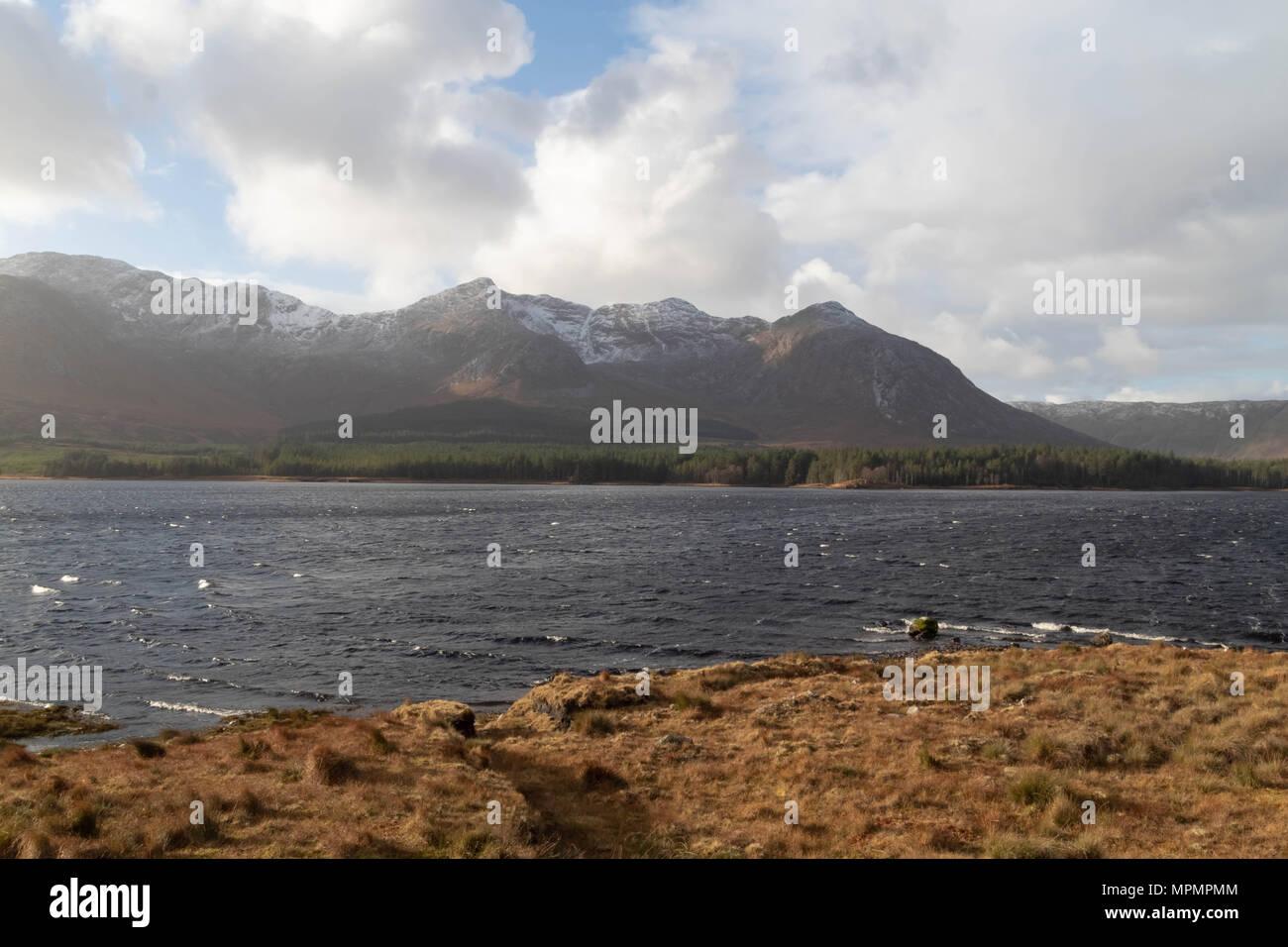 Connemara National Park Lake, West of Ireland, Connemara, Ireland - Stock Image