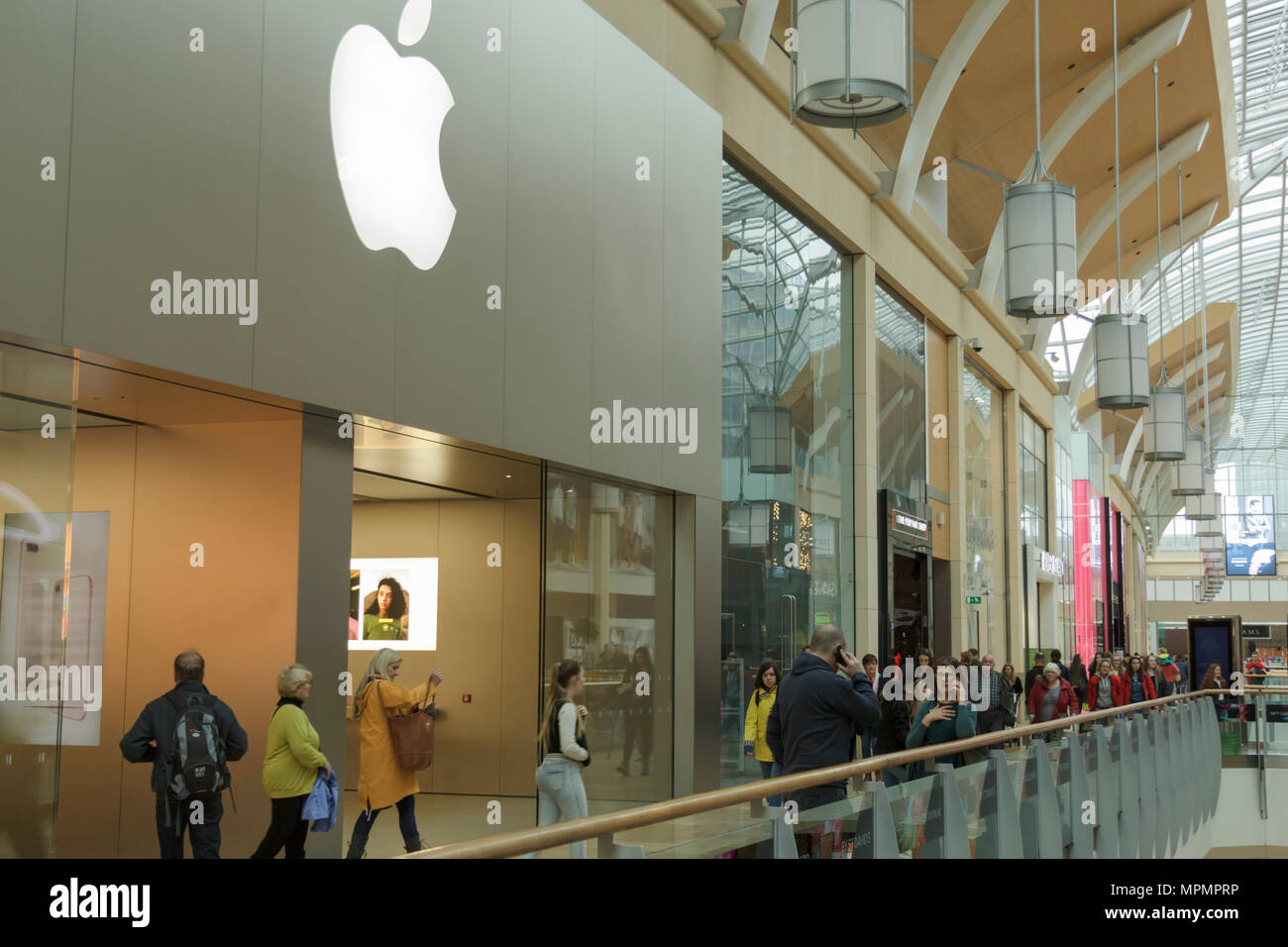 Apple Store, St David's Shopping Centre, Cardiff, UK  April 13th
