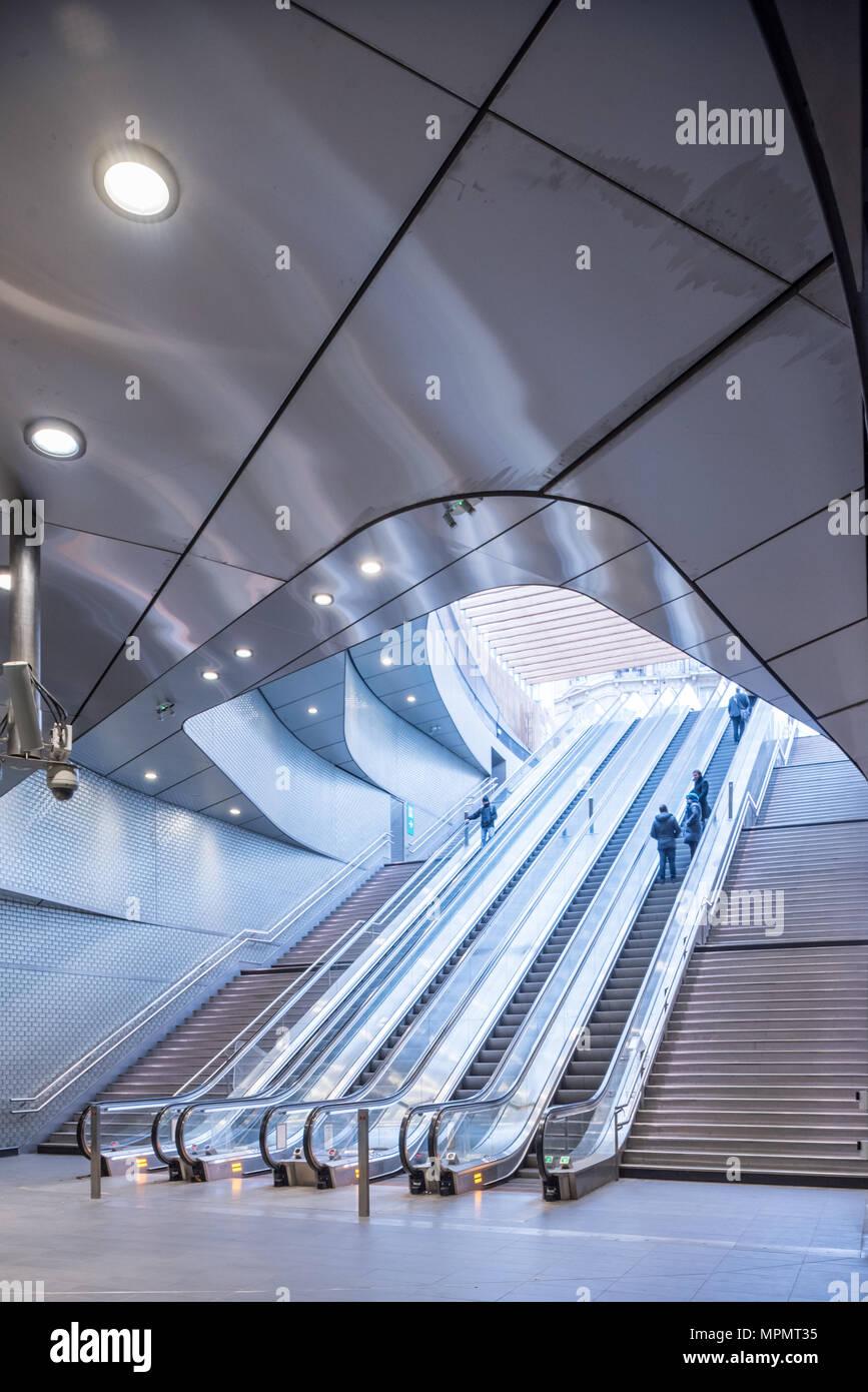 France,  Paris -   1 April 2018:  Paris Métro station Châtelet - Porte Marguerite de Navare - Stock Image