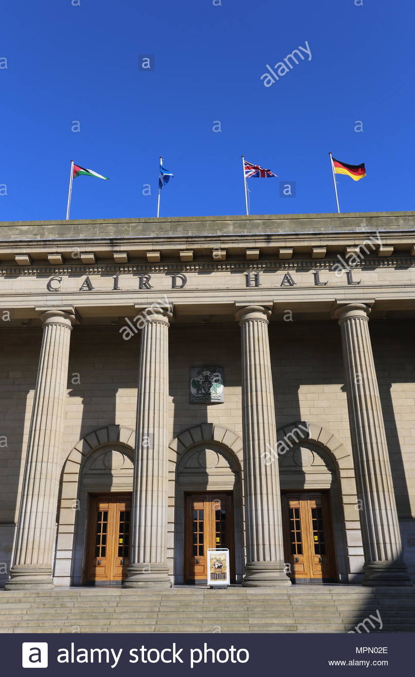 Exterior of Caird Hall Dundee Scotland  May 2018 - Stock Image