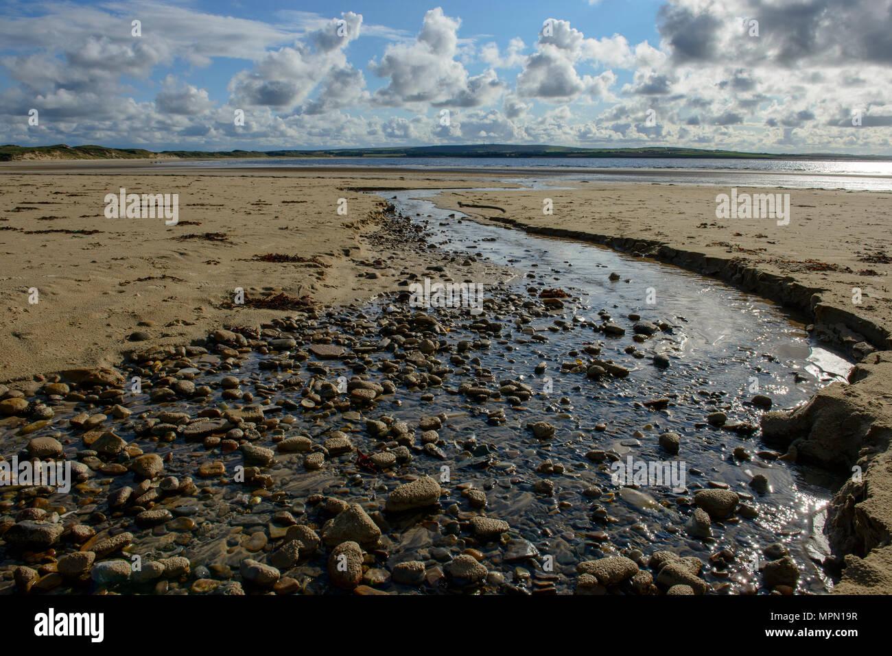 United Kingdom, Scotland, Highland, Sutherland, Caithness, Thurso, Dunnet Beach near Castletown - Stock Image