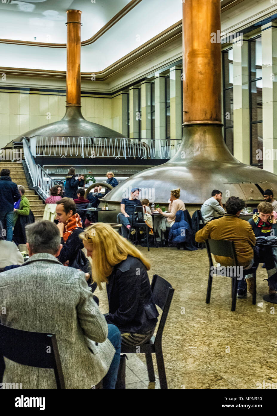 Berlin Neukölln. König Otto Cafe in KINDL Centre for Contemporary Art in brew house of former Kindl Brewery Building.                                  - Stock Image