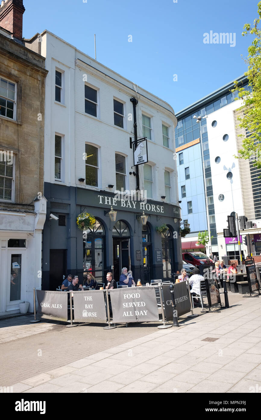 May 2018 - The Bay Horse, a popular pub in Bristol - Stock Image
