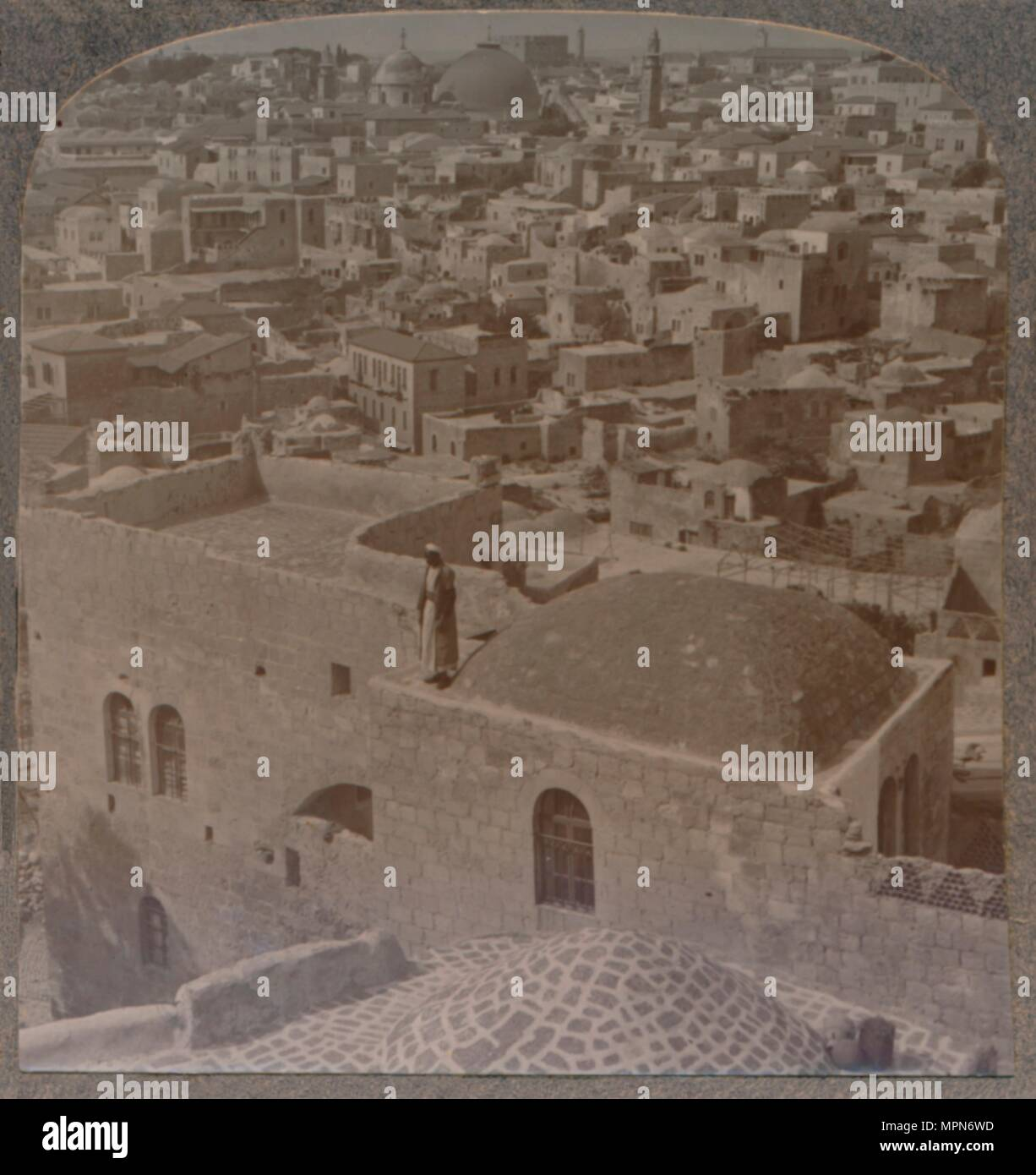 'Moslem quarter of Jerusalem, from the English School', c1900. Artist: Unknown. - Stock Image