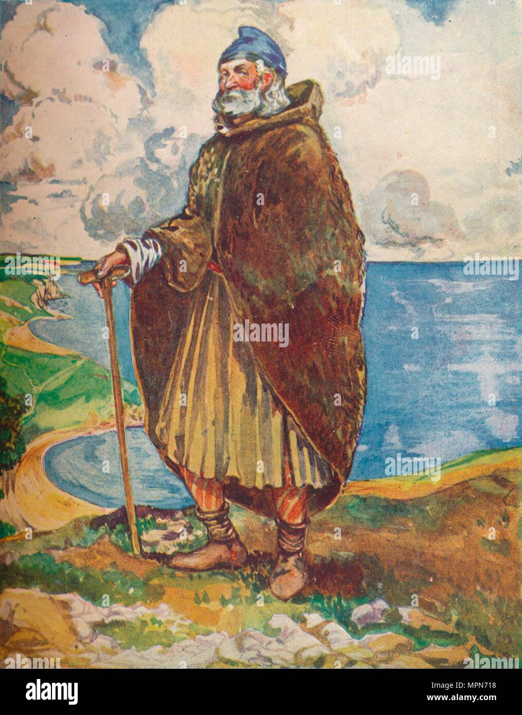 'A Man of the Time of Stephen', 1907. Artist: Dion Clayton Calthrop. - Stock Image