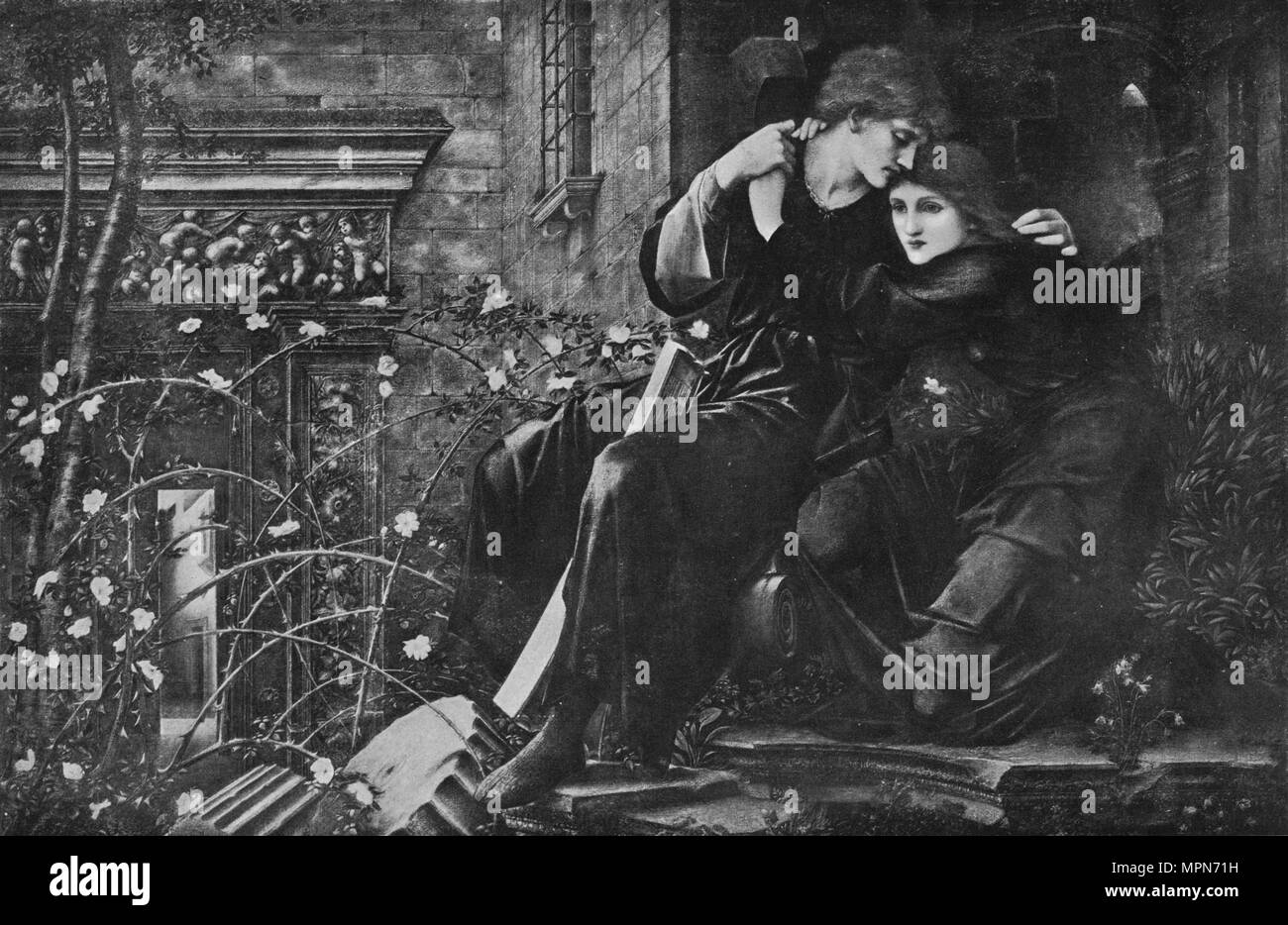 'Love Among The Ruins', 1894, (1911). Artist: Sir Edward Coley Burne-Jones. - Stock Image
