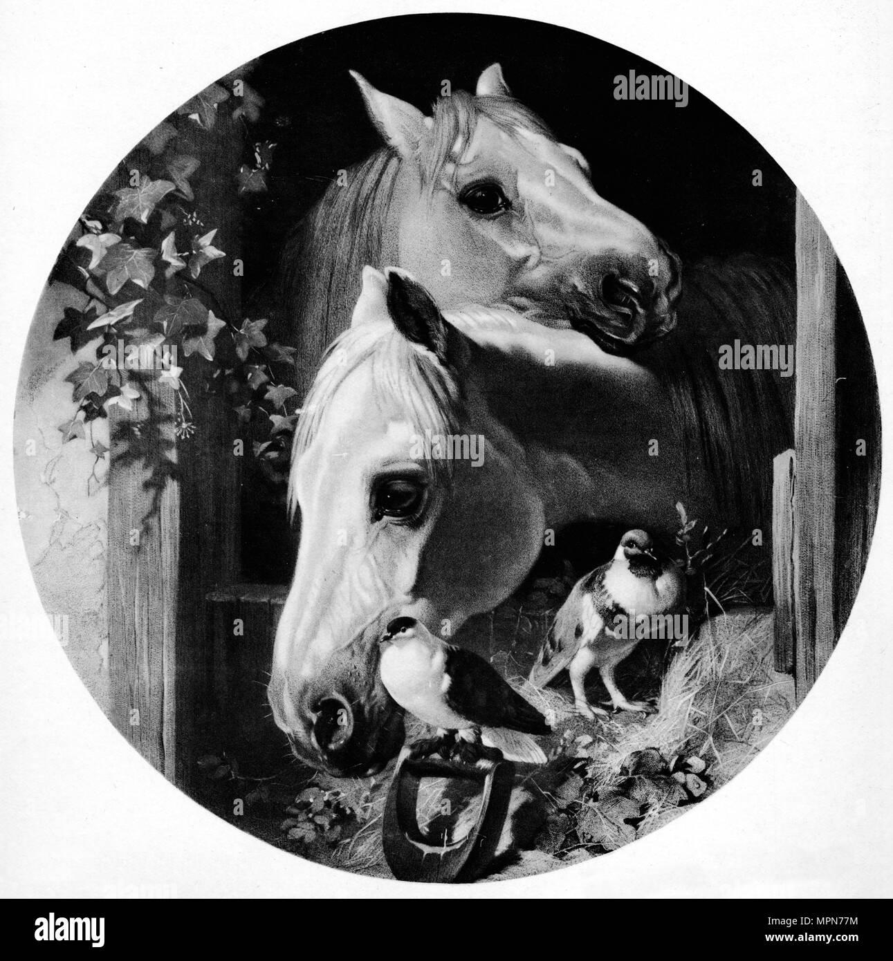 'Society of Friends', c1852, (1912). Artist: John Frederick Herring I. - Stock Image