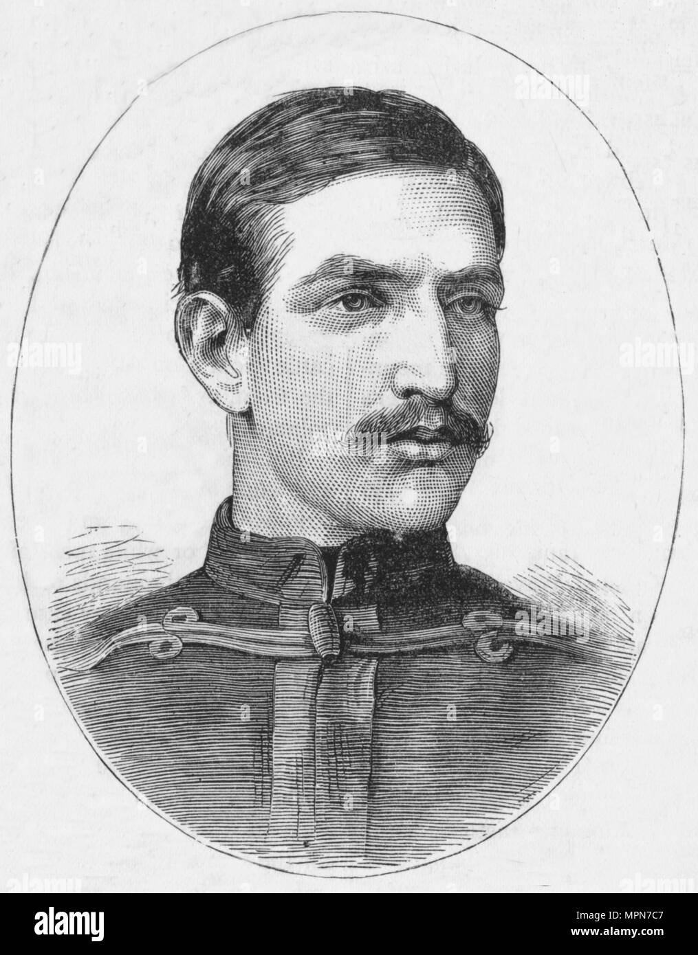 'Major W. M. Laurence', c1880. Artist: Unknown. - Stock Image