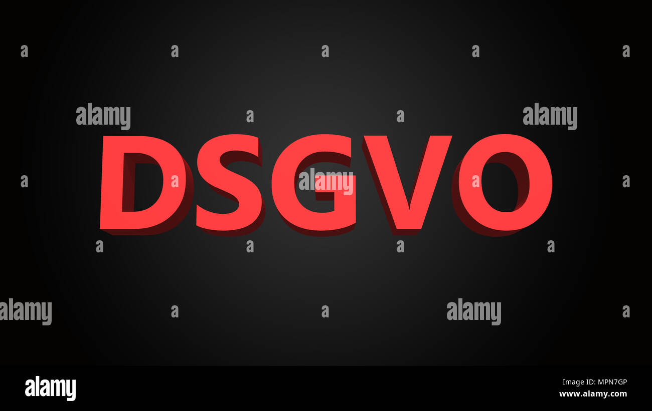 DSGVO is the German abbreviation for Datenschutz-Grundverordnung or general data protection regulation GDPR in English - Stock Image