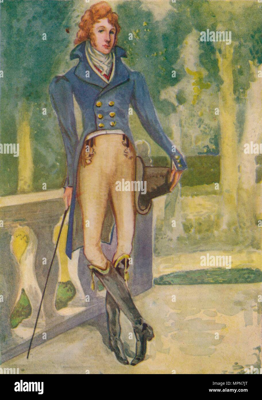 'A Man of the Time of George IV', 1907. Artist: Dion Clayton Calthrop. - Stock Image