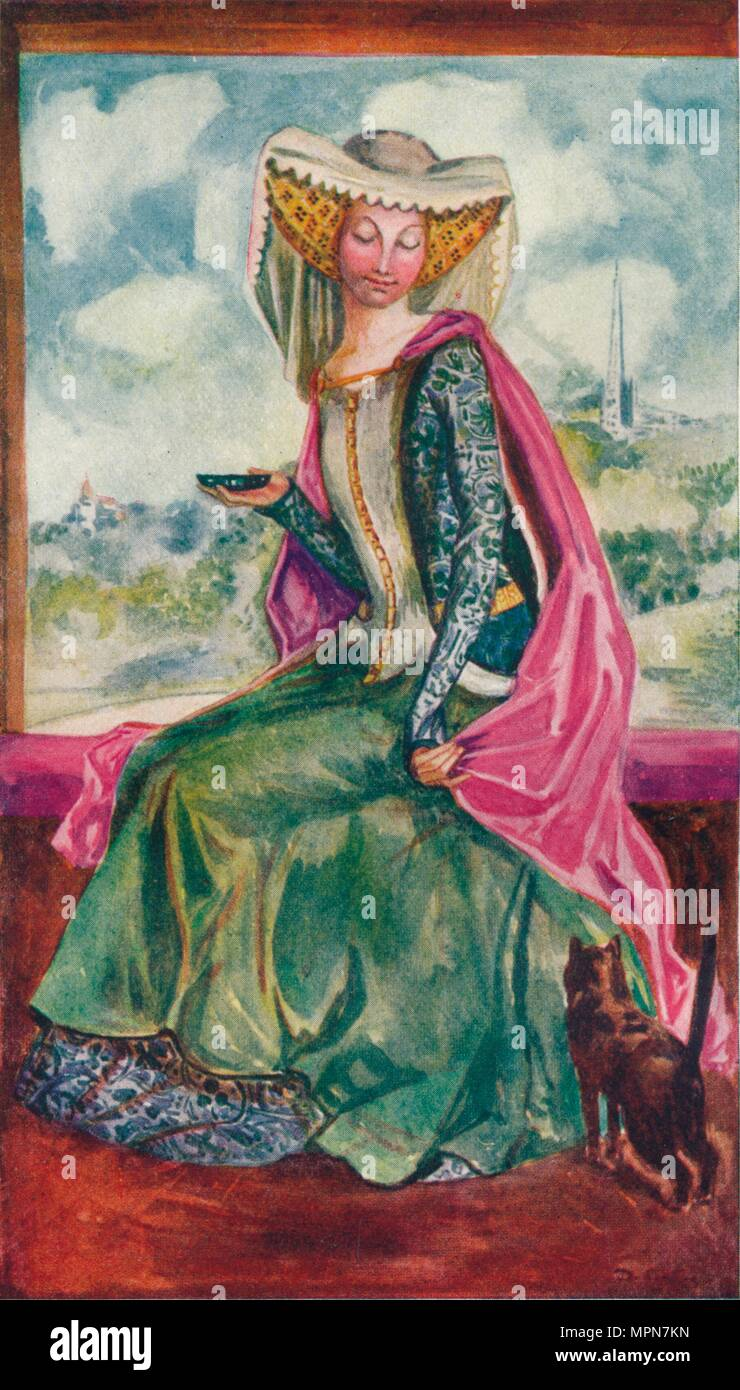 'A Woman of the Time of Henry IV', 1907. Artist: Dion Clayton Calthrop. - Stock Image