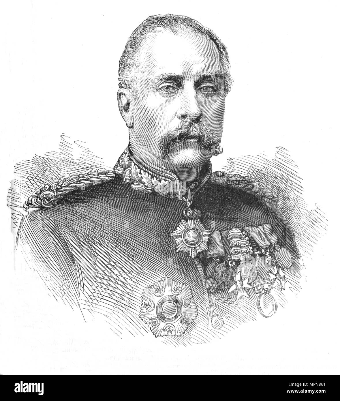 'General Sir Gerald Graham', c1881-85. Artist: Unknown. - Stock Image