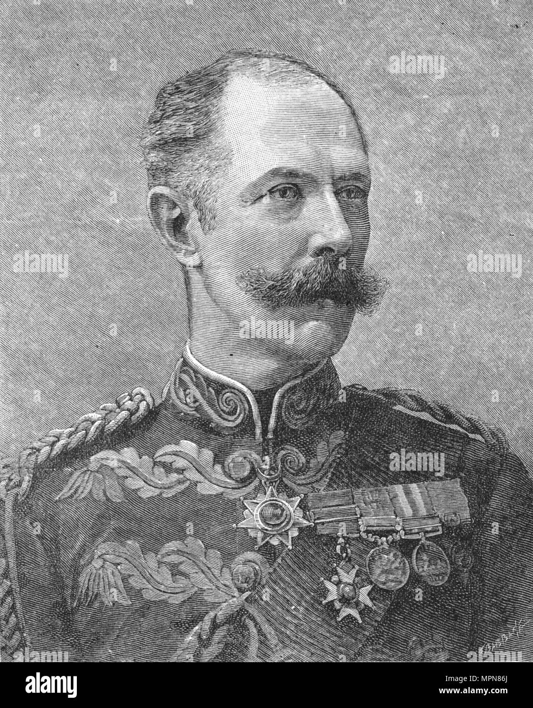 'General Sir Herbert Stewart', c1881-85. Artist: Unknown. - Stock Image