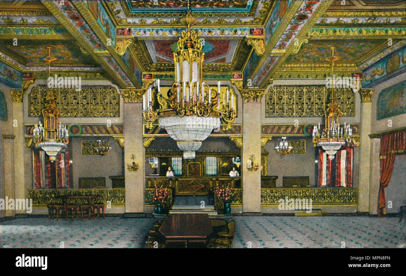 'Elaborate Interior of Casino and Famous Gold Bar, Hotel Agua Caliente', c1939. Artist: Unknown. - Stock Image