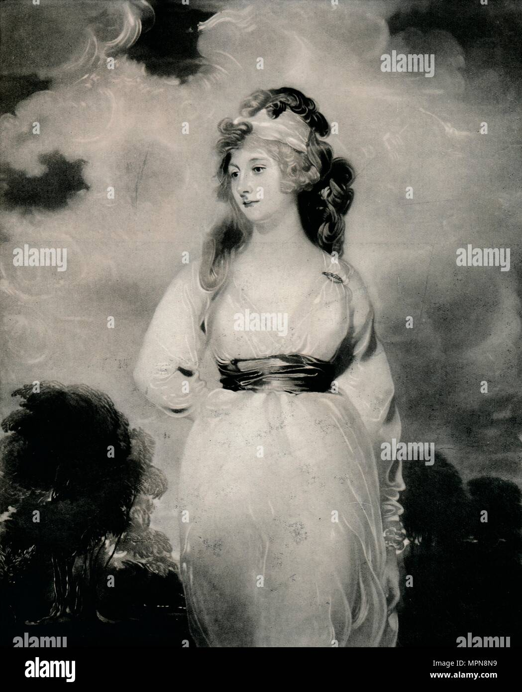 'Lady Amelia Anne Hobart, Vicountess Castlereagh, Marchioness of Londonderry', c1800, (1 Artist: Thomas Lawrence. - Stock Image
