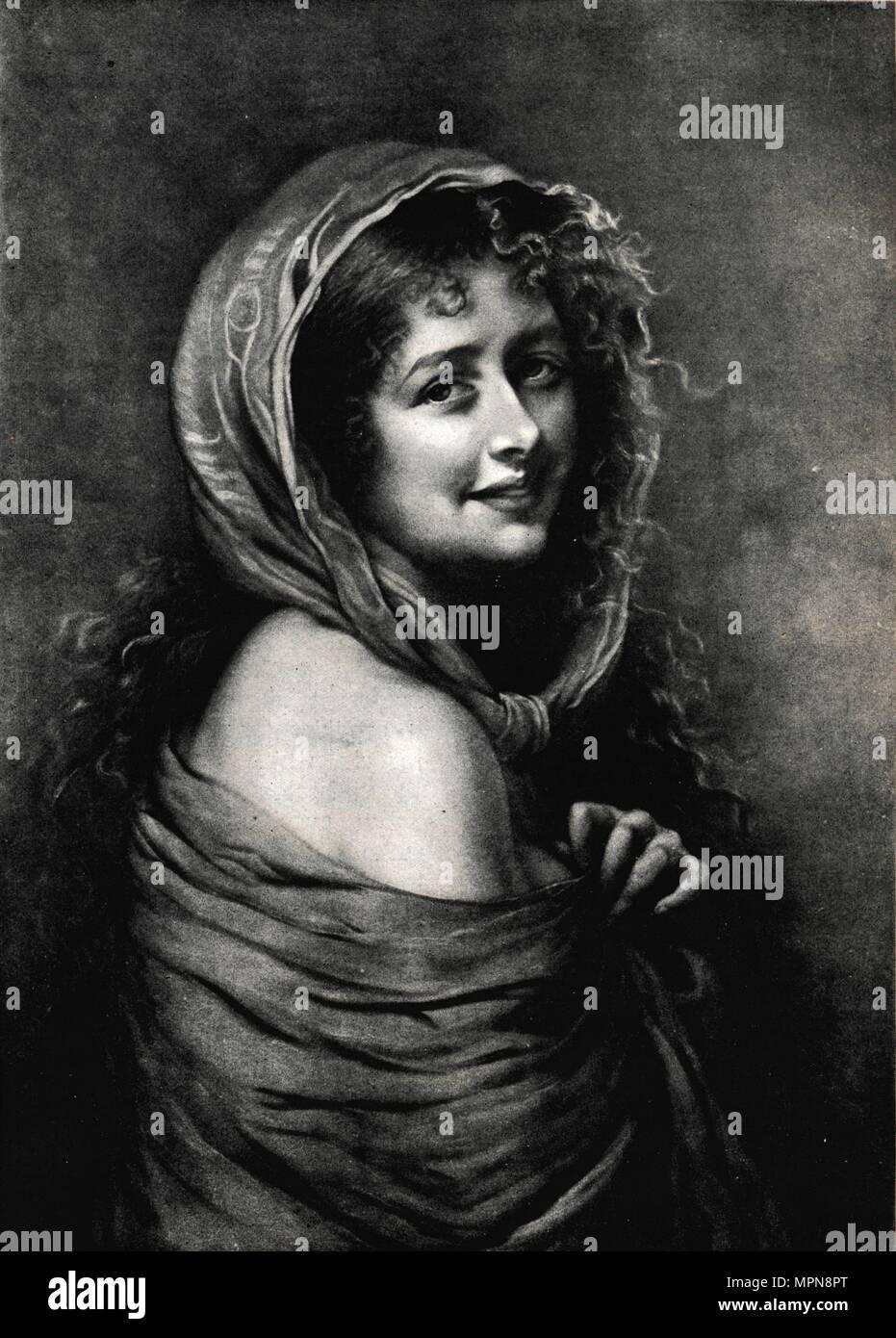 'Kathleen Mavourneen', c1850, (1911). Artist: Charles Marshall. - Stock Image