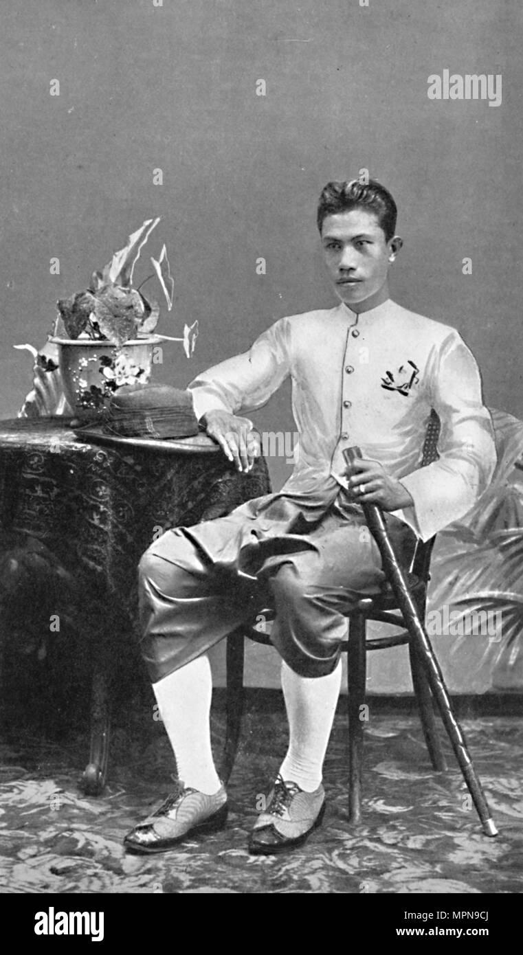 A Siamese gentleman, 1902. Artist: HW Rolfe. - Stock Image