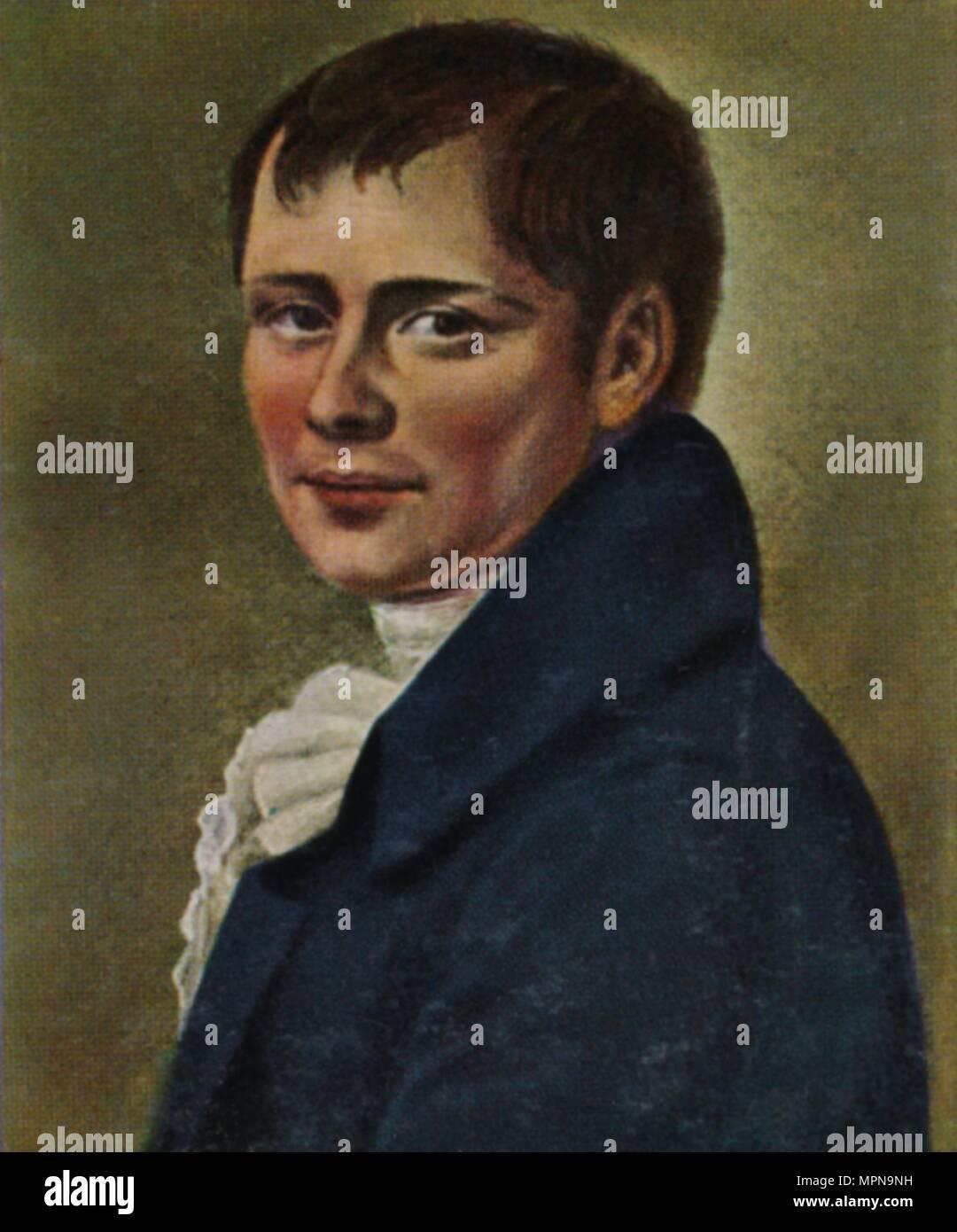 'Heinrich von Kleist 1777-1811. - Gemälde von Graff', 1934. Artist: Unknown. - Stock Image