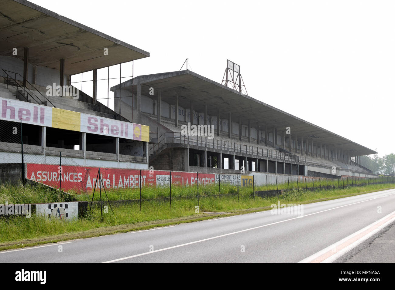 GUEUX, FRANCE - May 15, 2018: Historic Reims-Gueux circuit near Reims. Stock Photo
