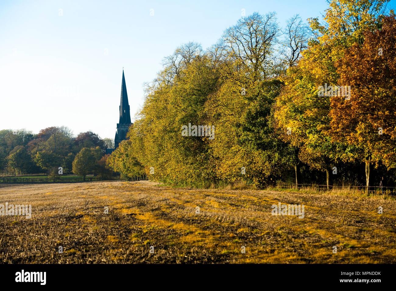 The Parish Church on the Wentworh Estate - Stock Image