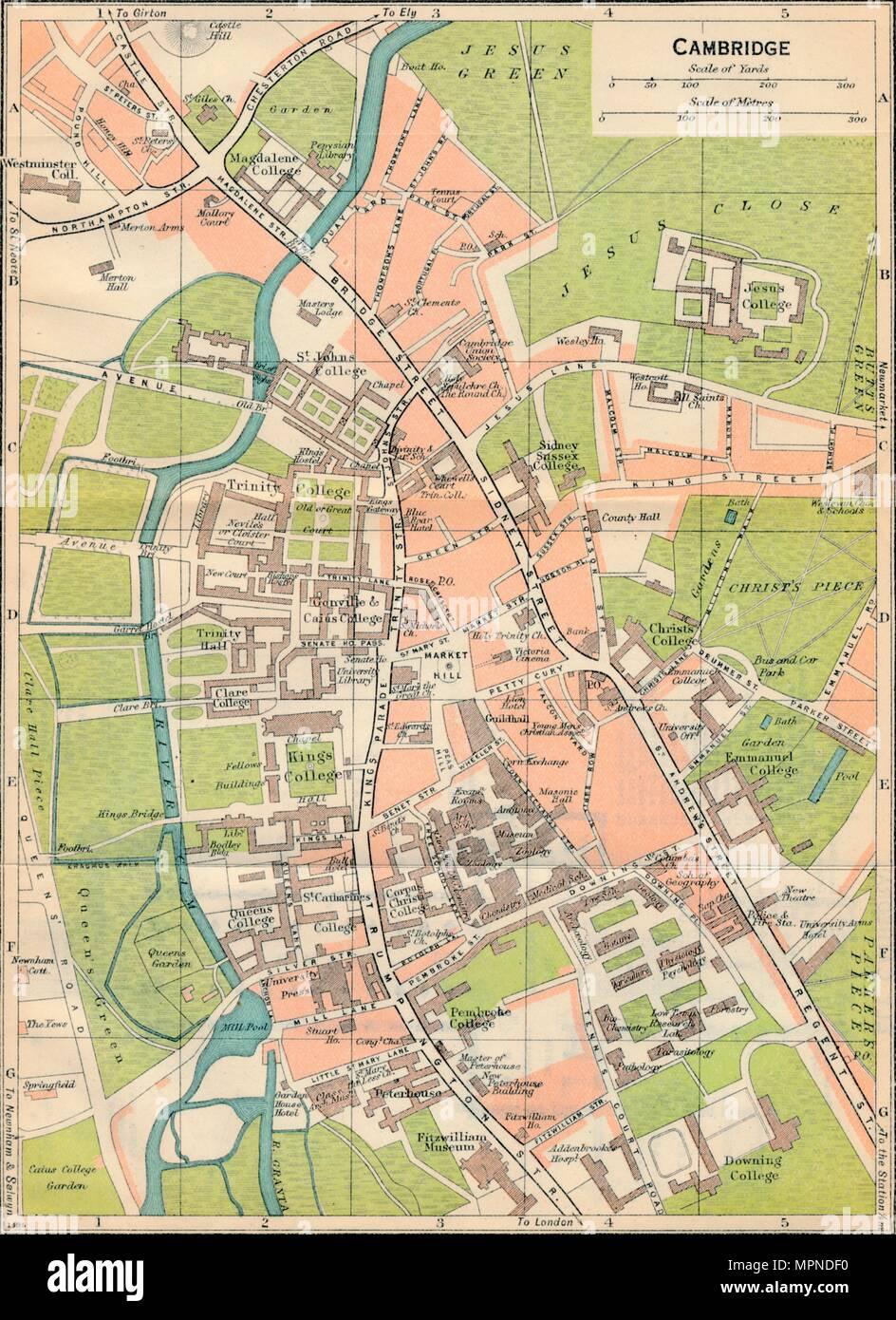'Cambridge', c20th Century. Artist: John Bartholomew. - Stock Image