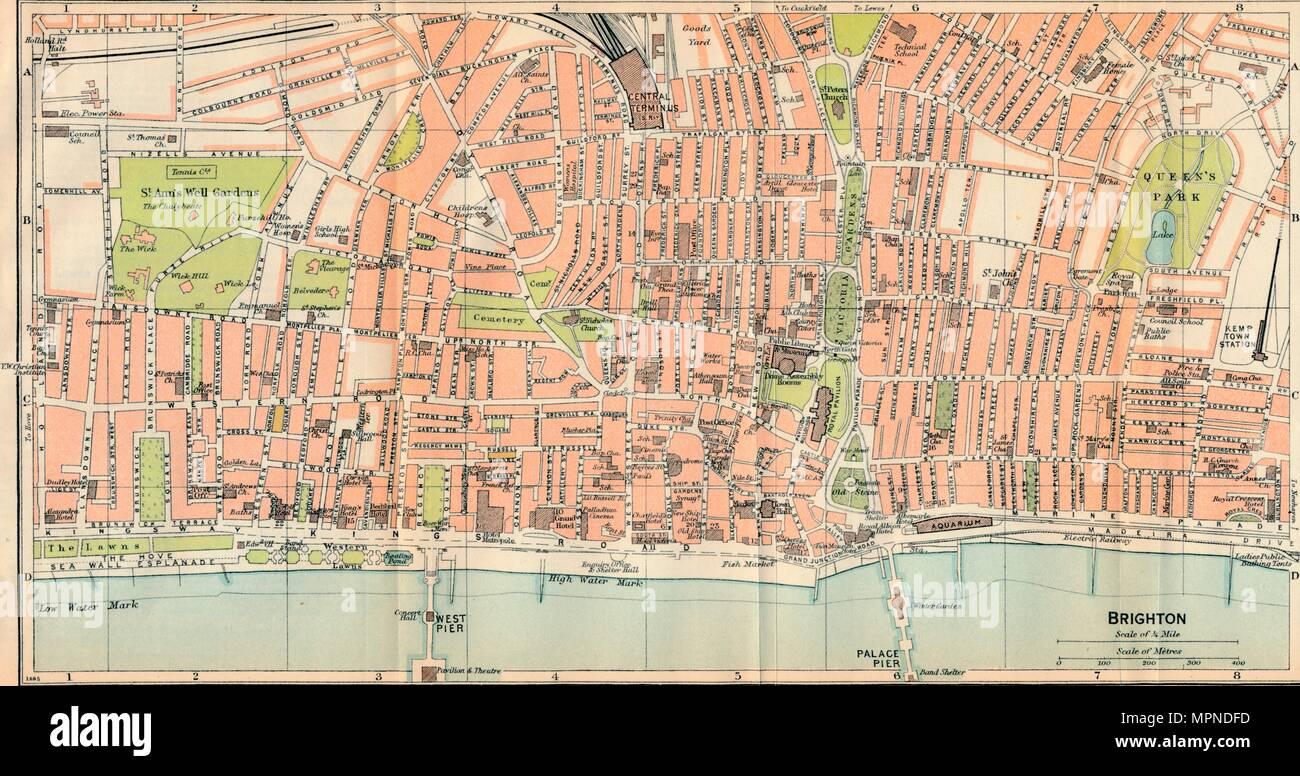 'Brighton', c20th Century. Artist: John Bartholomew. - Stock Image