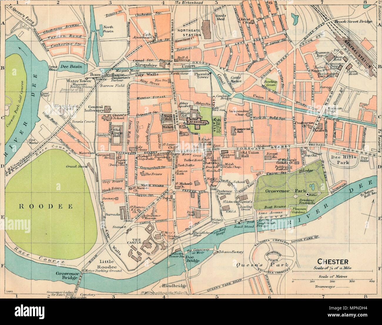 'Chester', c20th Century. Artist: John Bartholomew. - Stock Image